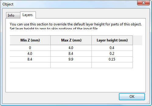 Variable layer height options - Layers.