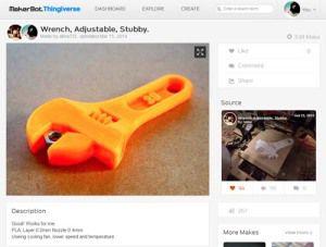Wrench, Adjustable, Stubby
