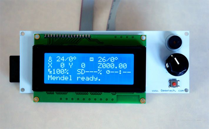 LCDコントローラーのディスプレイの画像