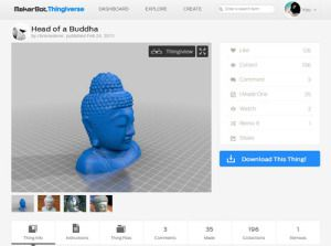Head of a Buddha by chrisniederer   Thingiverse