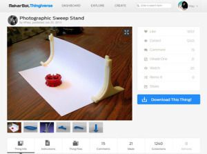 Photographic Sweep Stand by HPaul   Thingiverse