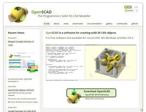 OpenSCADホームページ