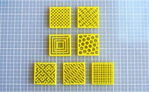 スライスソフトSlic3rのFill Pattern充填パターンの比較