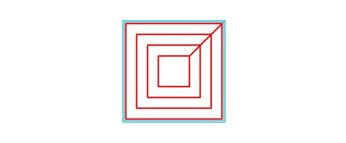 充填パターンConcentiricの軌跡