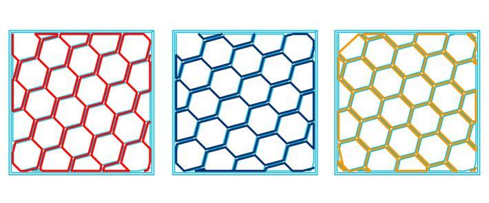 充填パターンHoneycombの軌跡