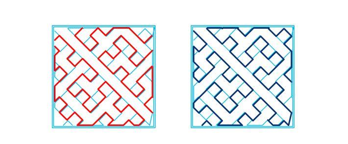 充填パターンhilbertcurveの軌跡