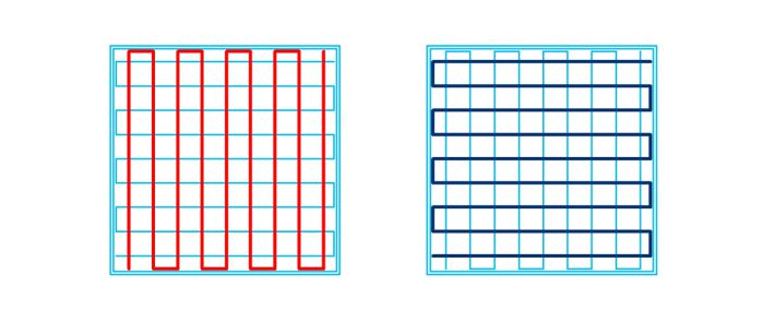 充填パターンoctagramspiralの軌跡