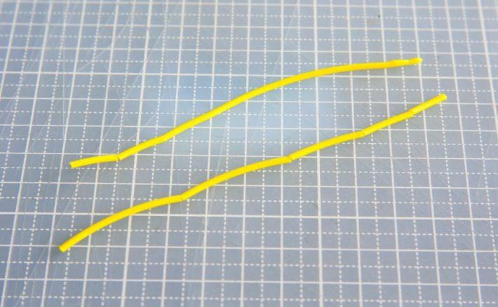 折れた黄色のフィラメント