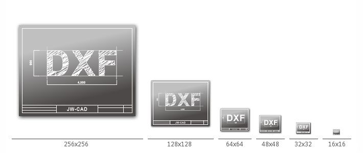 Jw-winのdxfファイルのアイコン