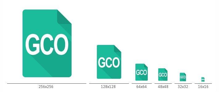 フラットデザイン風Gコードファイルアイコン