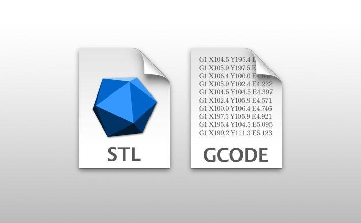 stlファイルとGコードファイルのアイコン