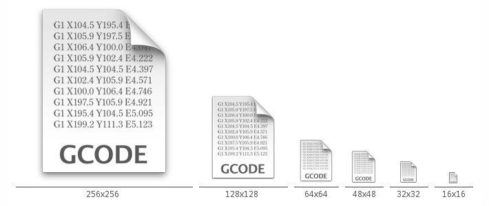 Mac風Gコードファイルアイコン