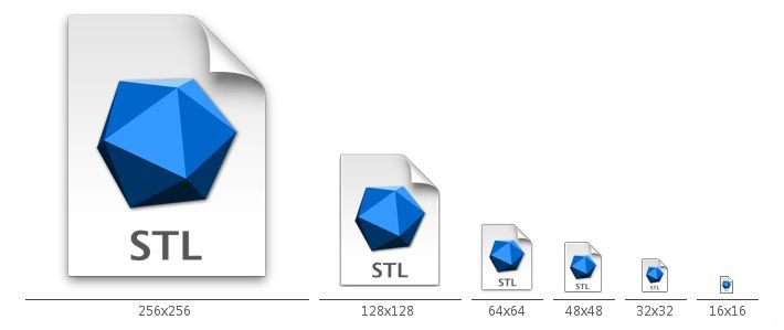 Mac風STLファイルアイコン