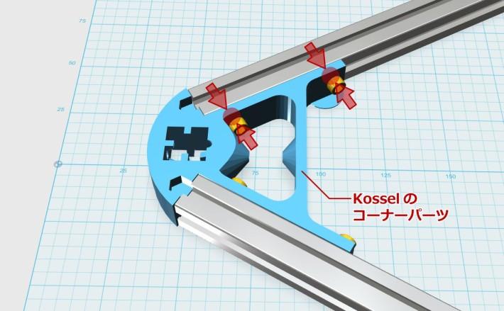 kosselのネジの位置