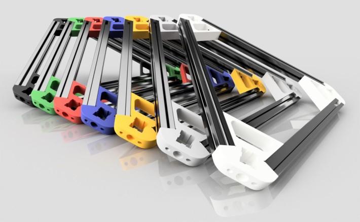 デルタ型3Dプリンターのコーナーパーツのカラーバリエーション