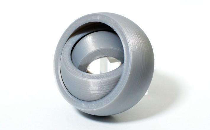 verbatimフィラメントでGyro rotating ringsをプリント