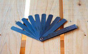 ホットエンドのノズルとヒートベッドの調整用のすきまゲージ