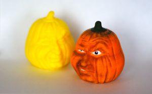 カボチャの頭を3Dプリントして色を塗ってみた – Pumpkin Head